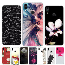 "Silicone Case For Huawei Honor 8C Case 6.26"" Flower Painted TPU Soft Phone Case on For Huawei Honor 8C C8 Back Cover Bumper Capa"