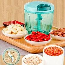 LUCOG 900ML Manual Meat Grinder Mincer Multifunction Food Processor for Meat Fruit Salsa Pepper Onion Nut Hand-Powered Chopper