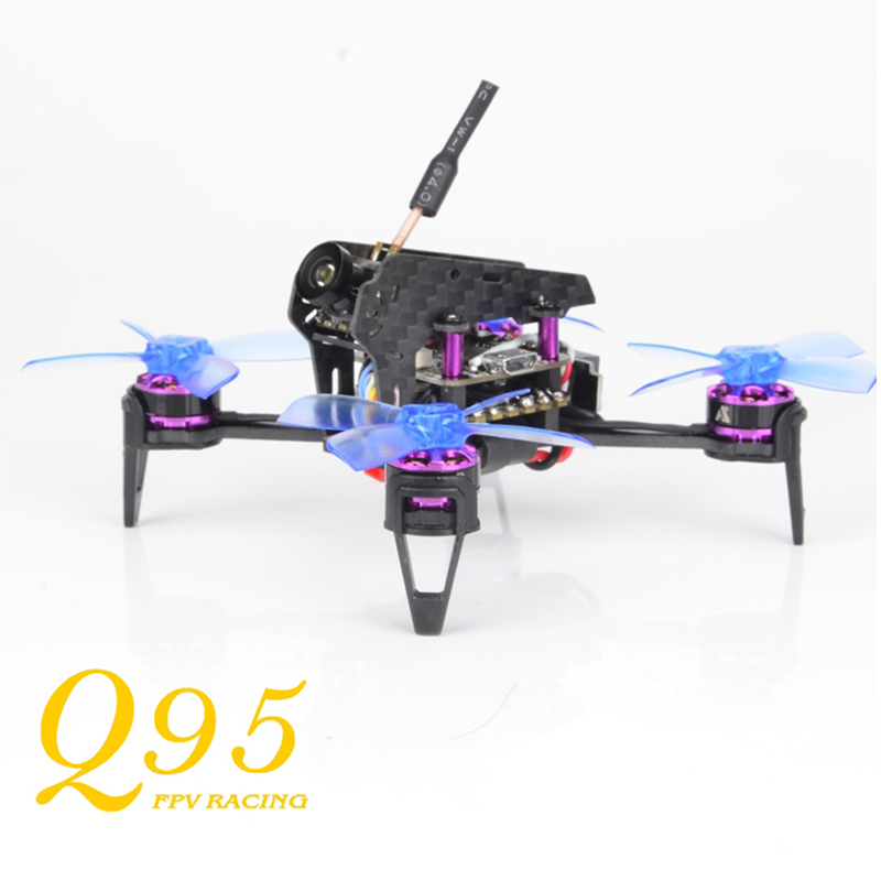 awesome ts 195 195mm f3 fpv racing drone pnp black and golden Awesome Q95 95mm 5.8G 48CH 25mW PNP 600TVL Camera FPV With F3 10A Blheli_S 1103-7500KV Motor Outdoor Toys Racing Drone Frame Kit