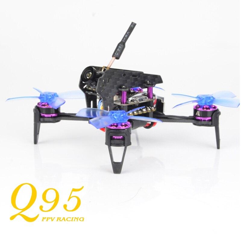 Impressionnant Q95 95mm 5.8G 48CH 25 mW PNP 600TVL caméra FPV avec F3 10A Blheli_S 1103-7500KV moteur en plein air jouets course Drone cadre Kit