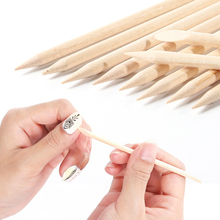Orange Wood Stick Double Sided For Nails Art Design Cuticle Pusher Remover Manicure Pedicure Nail Care Tools Set LA709