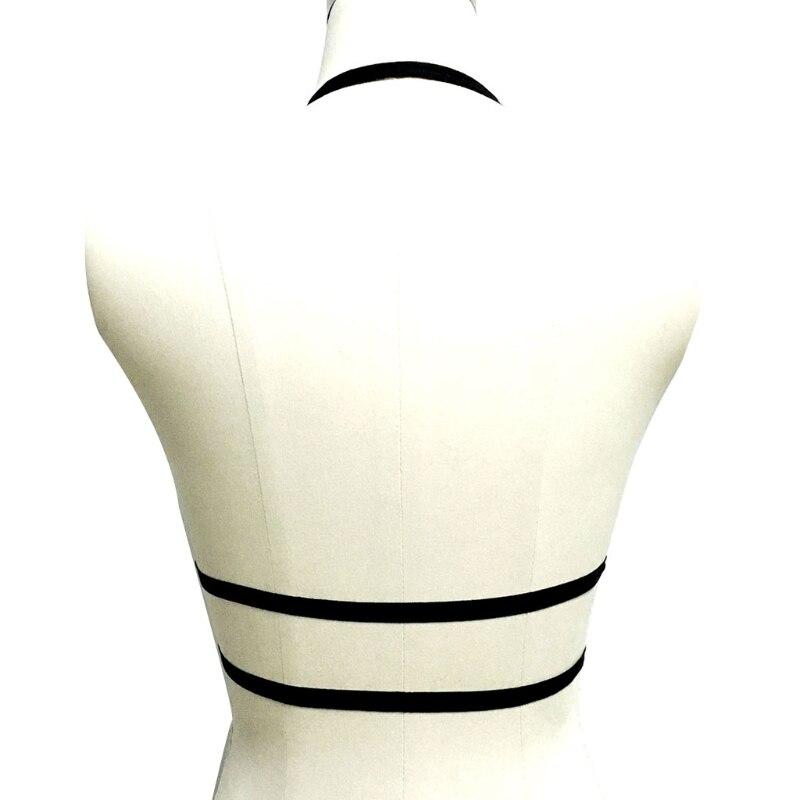 Womens Lady Sexy Black Cross Harness Strappy Lace Bra Bustier Vest Crop Top Bralette Blouse S/M/L/XL Fashion New adjustable