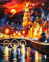 beautiful Painting Home Decor amsterdams magic Colorful oil paintings Canvas Abstract Modern Fine Art High quality Handmade