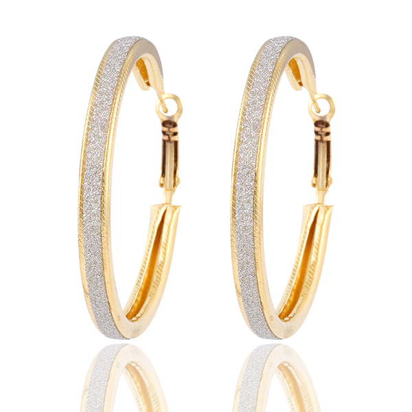 Big Crystal Circle Hoop Earrings