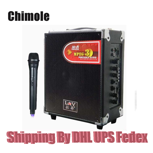 Chimole PT61 Outdoor Bluetooth Speakers High Quality 100W High Power HiFi Portable Square Dance Speaker with Wireless Microphone