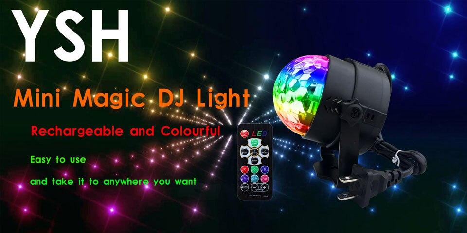 Ysh mini bola de discoteca luz interior