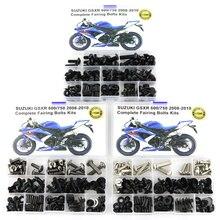 For Suzuki GSXR600 GSXR750 GSXR 600 GSXR 750 2008-2010 Motorcycle Full Fairing Bolts Kits Completed Washer Fastener Steel Nuts цена в Москве и Питере