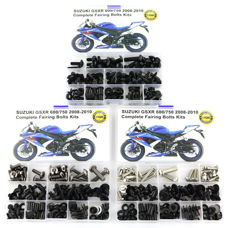 For <font><b>Suzuki</b></font> GSXR600 GSXR750 <font><b>GSXR</b></font> <font><b>600</b></font> <font><b>GSXR</b></font> 750 2008-2010 Motorcycle Full <font><b>Fairing</b></font> Bolts <font><b>Kits</b></font> Completed Washer Fastener Steel Nuts image