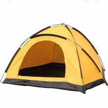 Lightweight 2~3 Person Camping Tent Waterproof Single Layer 190T Polyester 3 Seasons Portable Beach Hiking Fishing Outdoor Tents