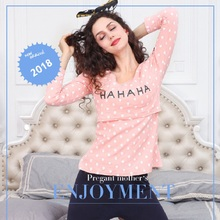 Breastfeeding Nursing Pajamas Long Sleeve Nightie Maternity Feeding Clothes Pregnant Women Set Robe