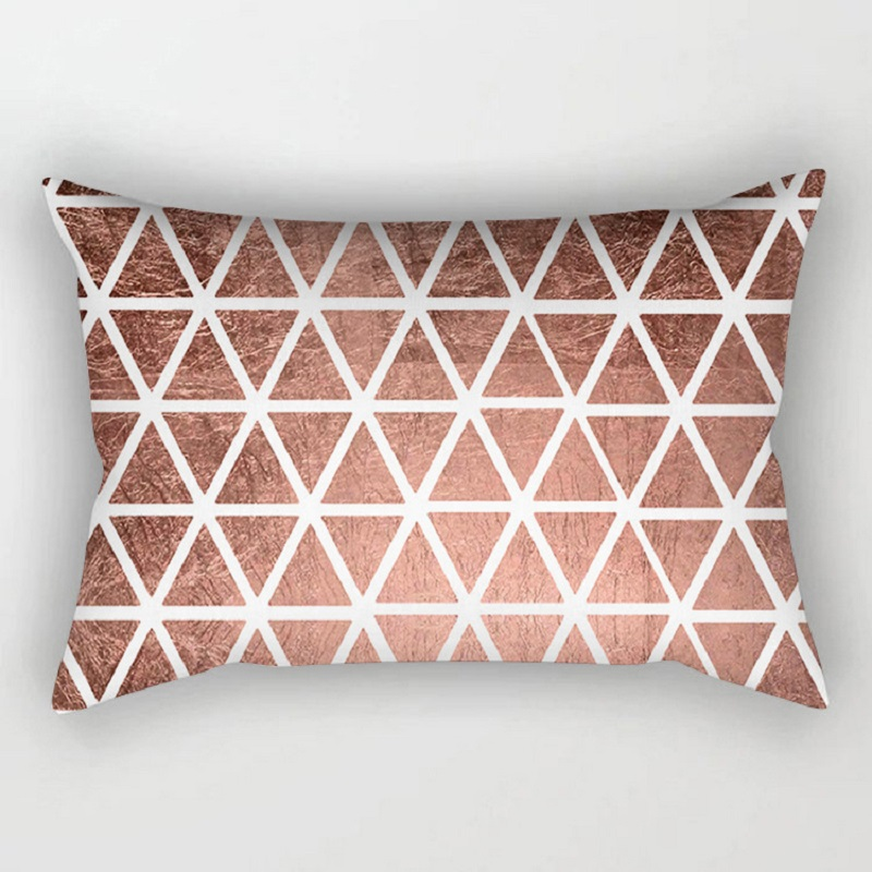 30x50cm Cushion Covers Rose Gold Pink Geometric Back Decorative Pillow Christmas Cover