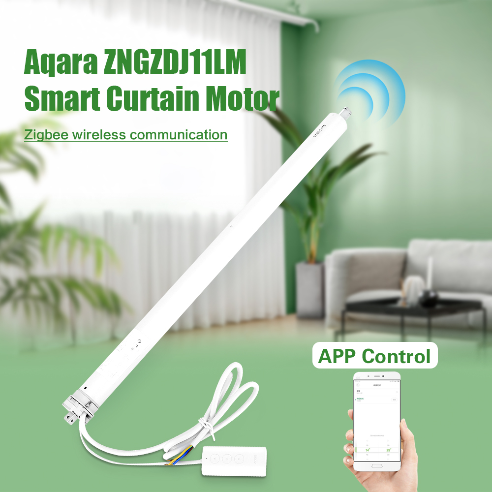 Original Xiaomi Aqara ZNGZDJ11LM Smart Curtain Motor Zigbee Smart Home APP Control Wifi Version Automatic Curtain Control