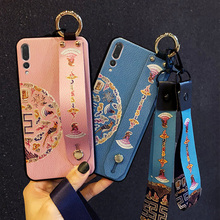 wristband strap tpu case for huawei P30 P20 pro mate 20 X honor 10 lite 8x  P Smart 2019 cover fashion 3d shell