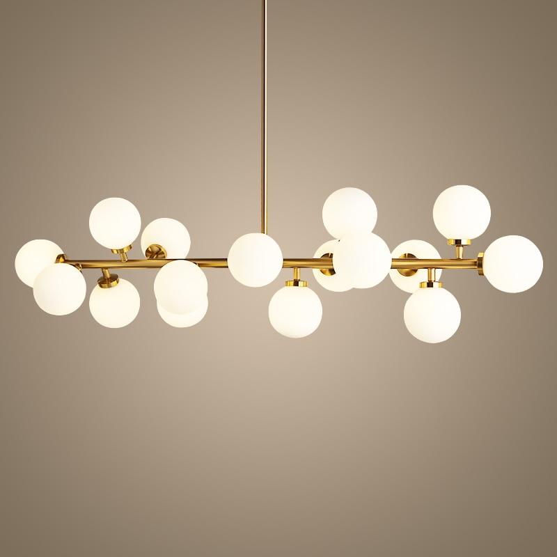 Γυάλινη σφαίρα Φωτιστικό πολυέλαιος χρυσή κορνίζα κρεμαστό Φανός δημιουργίας ανάρτησης G4X16 LED AC 85-265V