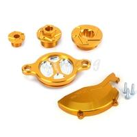 CNC Engine Cover Protector Guard Timing Screw Bolt Oil Filter Cap For Suzuki RMZ450 RMZ 450 2008 2009 2010 2011 2012 2013 2016
