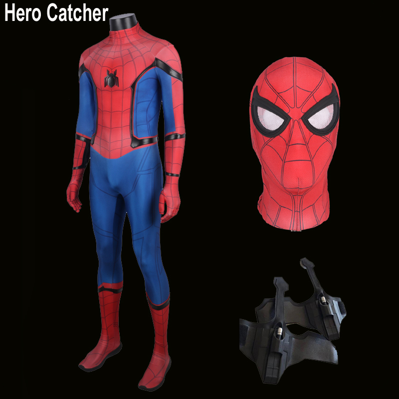 Hero Catcher Best 2017 Spiderman Costume Homecoming Suit Tom Holland Spiderman Costume Movie Spiderman Homecoming Spandex Suit ...