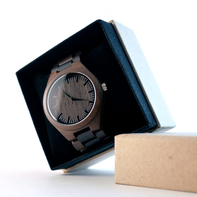 TO MY BOYFRIEND ENGRAVED WOODEN WATCH IN YOUR EYES I HAVE FOUND MY HOME 5