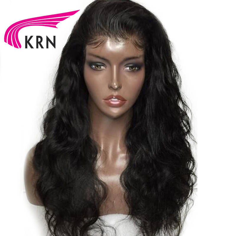 KRN Hair Glueless Lace Front Human Hair Wigs For Women Remy Pre Plucked Brazilian Lace Front