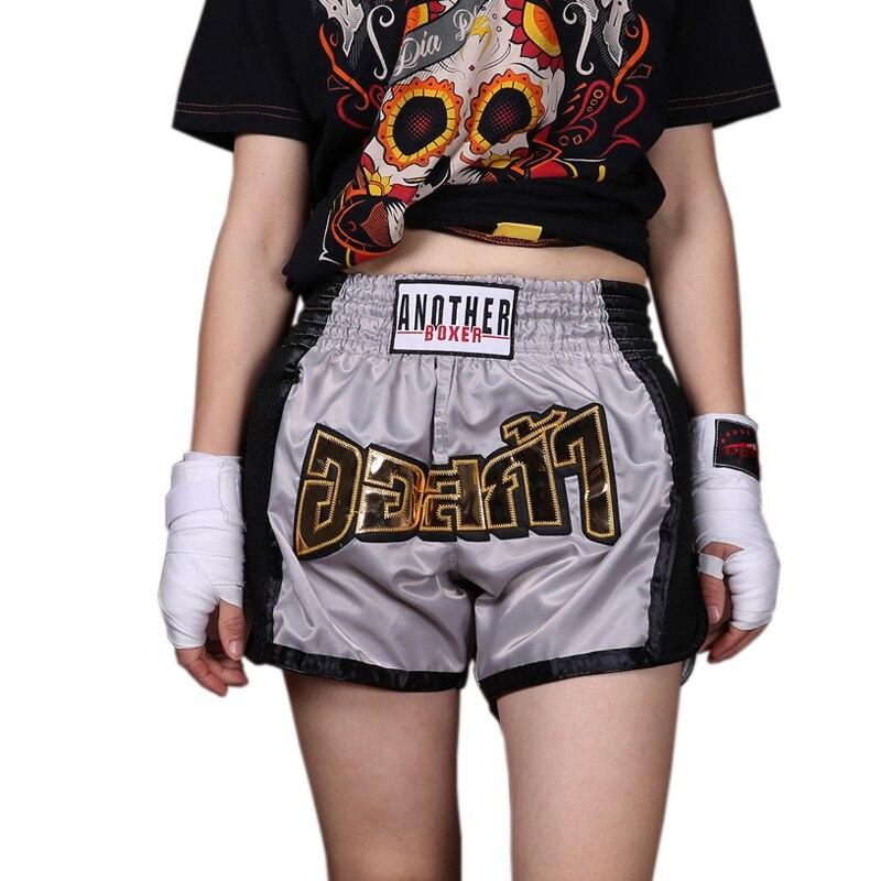 8 cores dos homens/mulheres/criança esportes respirável de algodão solto calças de treinamento de boxe mma kick boxing shorts curtos curto muay thai