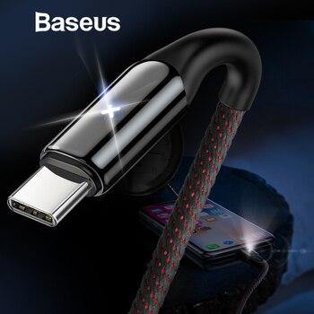 Baseus USB typu C kabel do Samsung Galaxy S9 S8 Plus szybkie ładowanie 3.0 ładowania kabel do Xiaomi USB-C typu C kabel