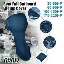 Couverture complète de moteur de bateau hors-bord, X Autohaux 30-225 cv, protection de moteur de bateau imperméable, tissu Oxford 600D, PVC
