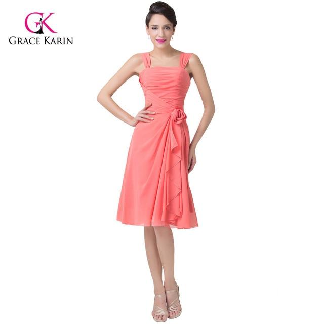 Elegant Vestido Watermelon Red Short Prom Dresses Ruched Formal