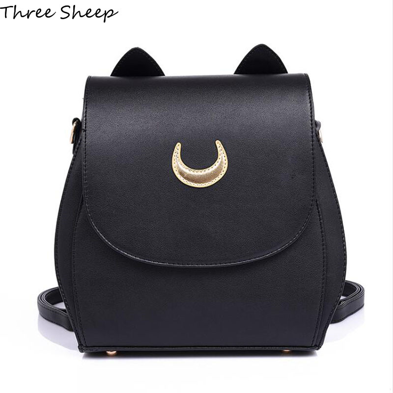 Sailor Moon Backpack PU Leather Backpack Women Shoulder Rucksack 2017 School Bags for Teenage Girls Women