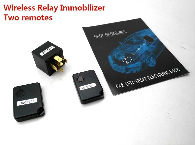 car alarm system with ignition start stop anti hijacking RFID Car Alarm  Immobilizer Circuit Cut Off Anti Hijacking Theft