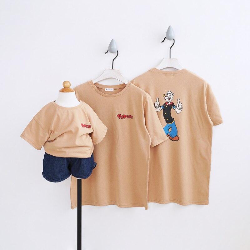 Семейный комплект футболки с рисунками из мультфильмов одежда для мамы и меня одежда для всей семьи Для мамы и дочки Одежда для семьи футбол... ...
