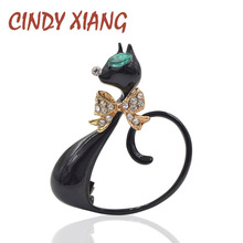 new arrival 2016 long tail black cat brooches for women cute elegant animal brooch pin fashion jewelry enamel coat brooch gift mziking new black cat brooch for women flower brooch cute cat head enamel pin jewelry clothes accessories brooches for wedding