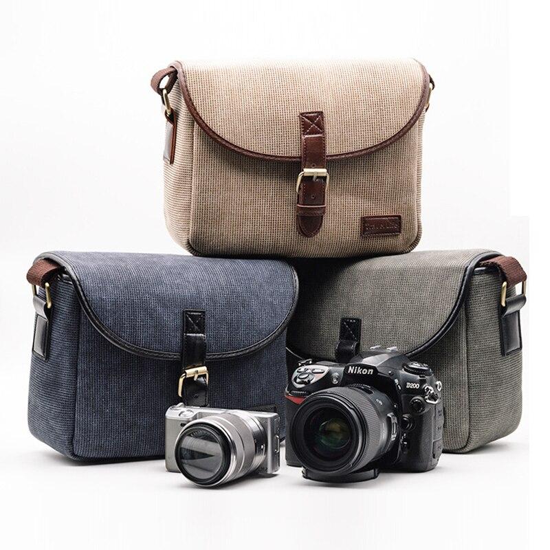 Retro Foto Camera Bag Custodia Per Canon EOS 200D 77D 7D 80D 800D 1300D 6D 70D 760D 750D 700D 600D 100D 1100D 1200D SX540