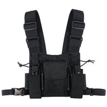 Radio Pocket Radio Borst Harnas Borst Front Pack Pouch Holster Vest Rig Carry Case Voor 2 Way Radio Walkie Talkie voor Baofeng