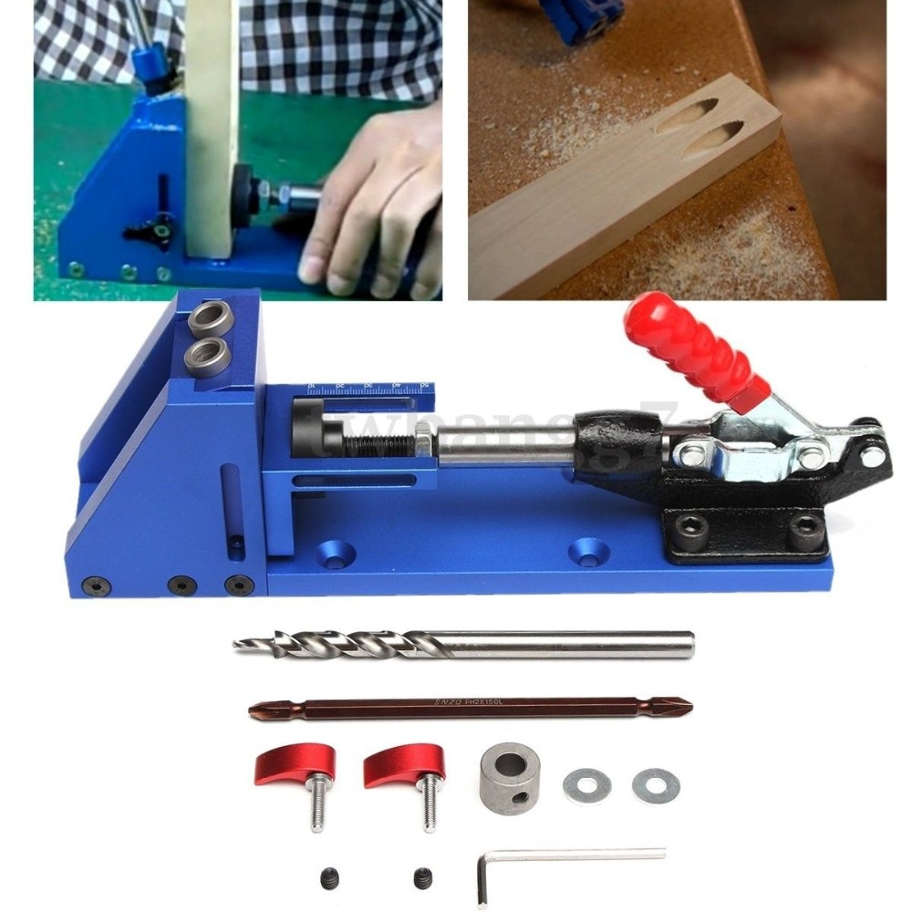 woodworking tool diy woodworking joinery high precision dowel jigs kit 3 in 1 drilling locator. Black Bedroom Furniture Sets. Home Design Ideas