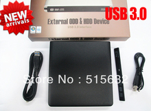 USB 3.0 External 12.7mm Super slim Drive ODD / HDD Enclosure Device optical driver and Hard disk caddy Enclosure BLACK