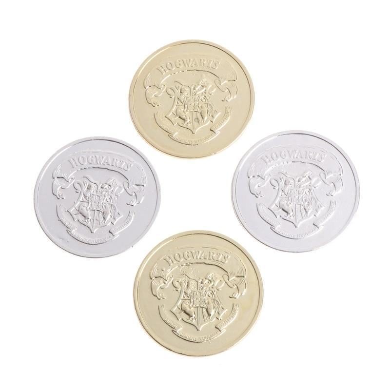 4pcs/set Harry Potter Hogwarts Commemorative Coin Magic Badge Collection Gift AP16