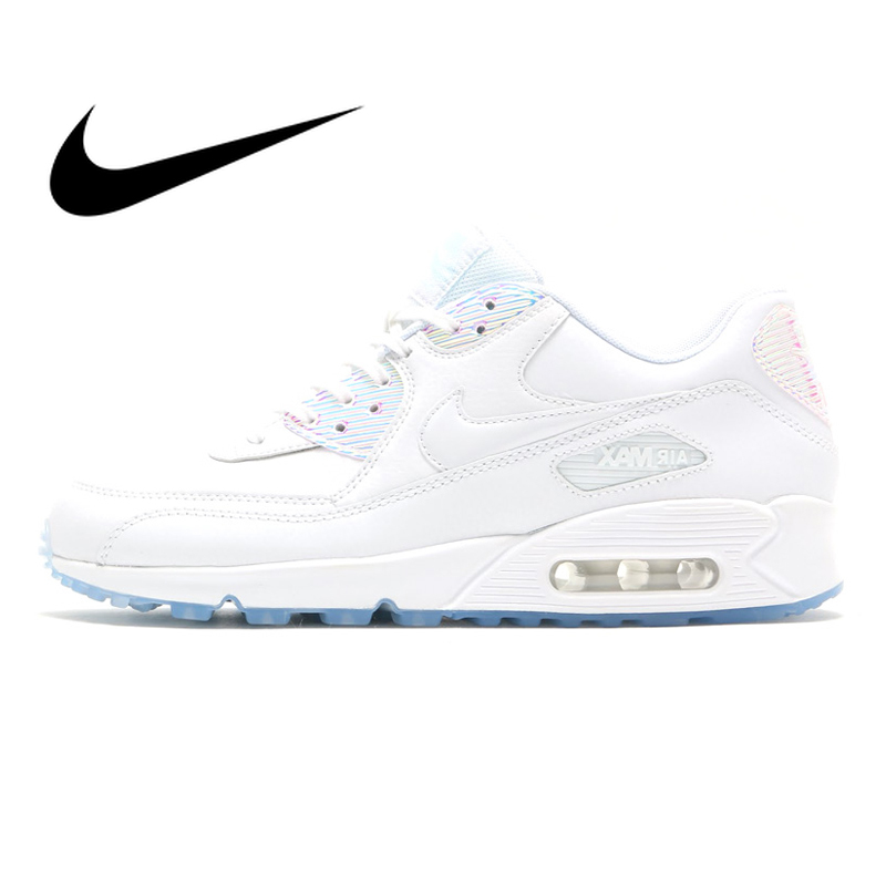 Nike Air Max 90 Premium Womens Running Shoes Sneakers White Breathable Sport Outdoor Footwear Designer 2019 New 443817-104Nike Air Max 90 Premium Womens Running Shoes Sneakers White Breathable Sport Outdoor Footwear Designer 2019 New 443817-104