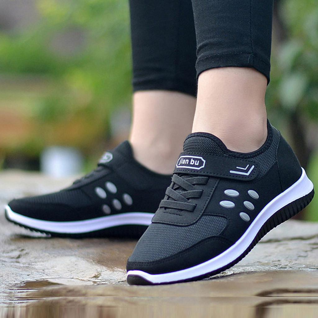 New Leisure Flat For Women Outdoor Mesh Solid Color Sports Woman Shoes Runing Breathable Shoes Sneakers Zapatos Tacon Muj