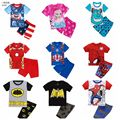 NEW Arrive Summer Baby Sleepwear Suit Kids Boys Spider-man T-shirt and Shorts 2pcs Clothes Set Home Wear Pajamas