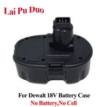 สำหรับDewalt 18Vไฟฟ้าเจาะแบตเตอรี่พลาสติก (ไม่มีแบตเตอรี่) เปลี่ยนDC9096 DE9096 DE9503 DE9098 DW9095 DW9096 DW9098