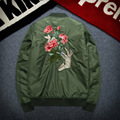2016 Autumn German Military Jacket military coat Winter Air force one embroidery Army Green jacket Men baseball uniforms