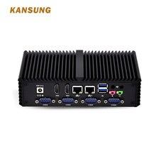 Безвентиляторный мини-ПК Intel компьютер 2 LAN 6 последовательный порт межсетевой экран Linux Настольный системный блок компьютера промышленный ПК Windows Box