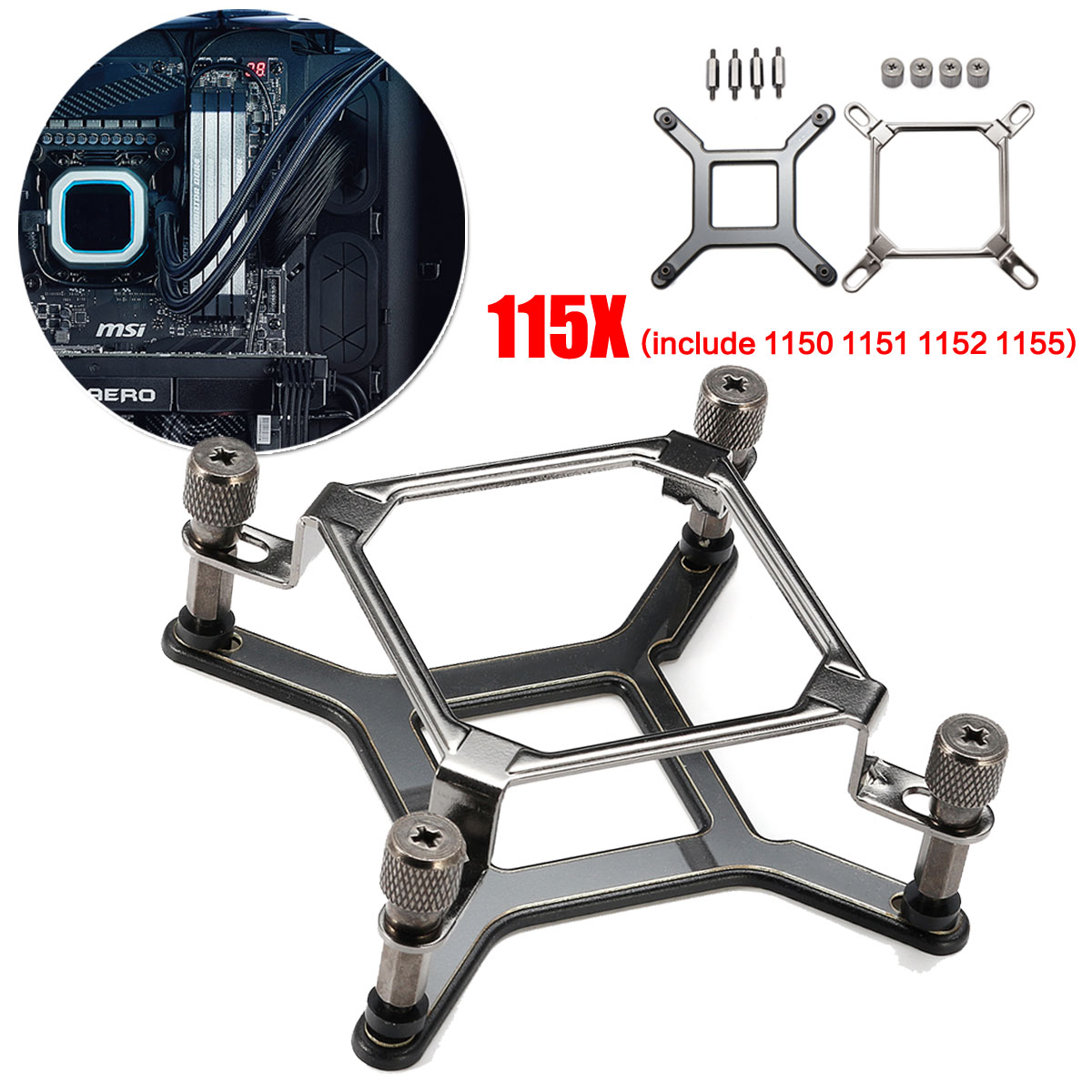 115x CPU Water Cooler Mounting Bracket Hardware Kit For Intel LGA 1150 1151 1155 1156 For CORSAIR Hydro H60 H80i H100i H110i GT