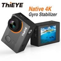 ThiEYE E7 реального Экшн камера 4k WiFi Водонепроницаемый Дайвинг удаленного Управление Спорт Cam коррекция искажений Anti Shake видео Камера