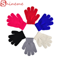 13cm 6 colors children full finger winter for boys girls kids gloves mittens warm ski sport cycling fishing snowboard running