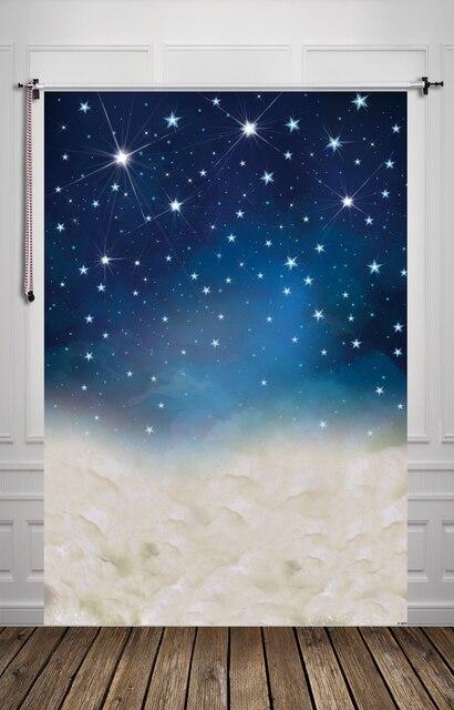 5X7ft (1.5x2.2 м) Студия фотостудия новорожденный фотографии фон цифровая печать звезды и облака обои D-8899
