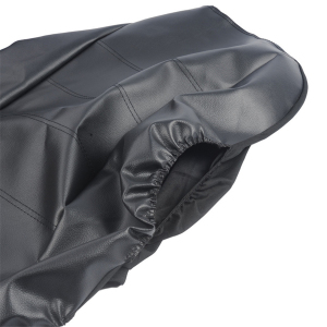 Image 5 - 2pcs Black PU Leather Car Seat Cover for All Car SUV Truck Car Seat Protector Airbag Compatible