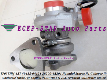 Free Ship TF035 49135 04121 28200 4A201 Water C Turbo Turbocharger For HYUNDAI Starex H1 H200