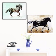 Black Horse Ink Artwork Canvas Art Print Painting Poster Wall Pictures For Living Room Home Decorative Bedroom Decor No Frame