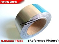 0 06mm Thick 25mm Or 26mm Wide 40 Meter EMI Shield One Side Adhesive Aluminum Foil