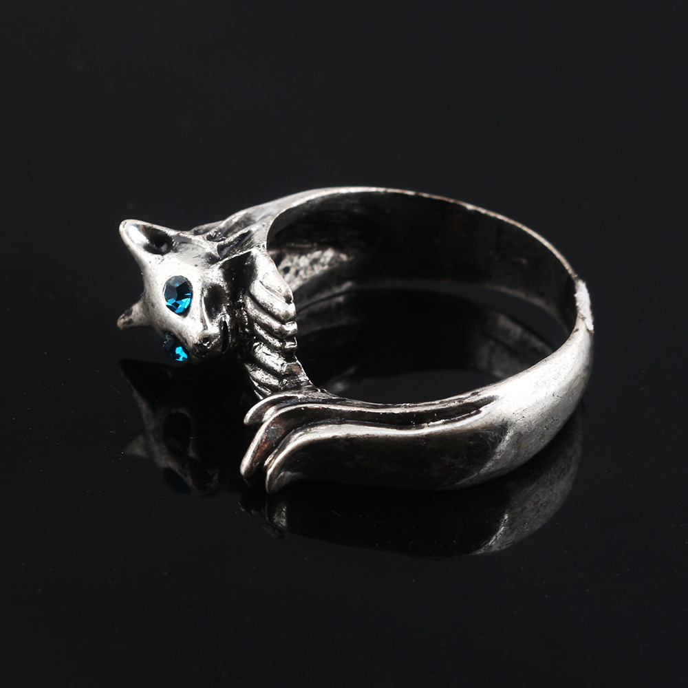 Drop shipping game Dark Souls 3 cat silver Ring men and women jewelry